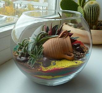 660 X 600 141.8 Kb 632 X 600 144.7 Kb 'Сад в стекле'. Композиции из растений.