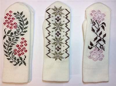 800 X 598 96.0 Kb Варежки с ручной вышивкой. Красивые, теплые, качественные.