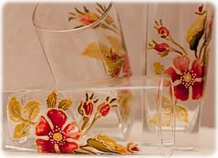 1280 X 927 159.5 Kb витражная роспись - бокалы, вазы в подарок
