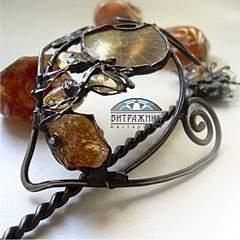 1004 X 1003 168.3 Kb Красивые заколки, украшения с нат.камнями и мн.другое - техника Тиффани