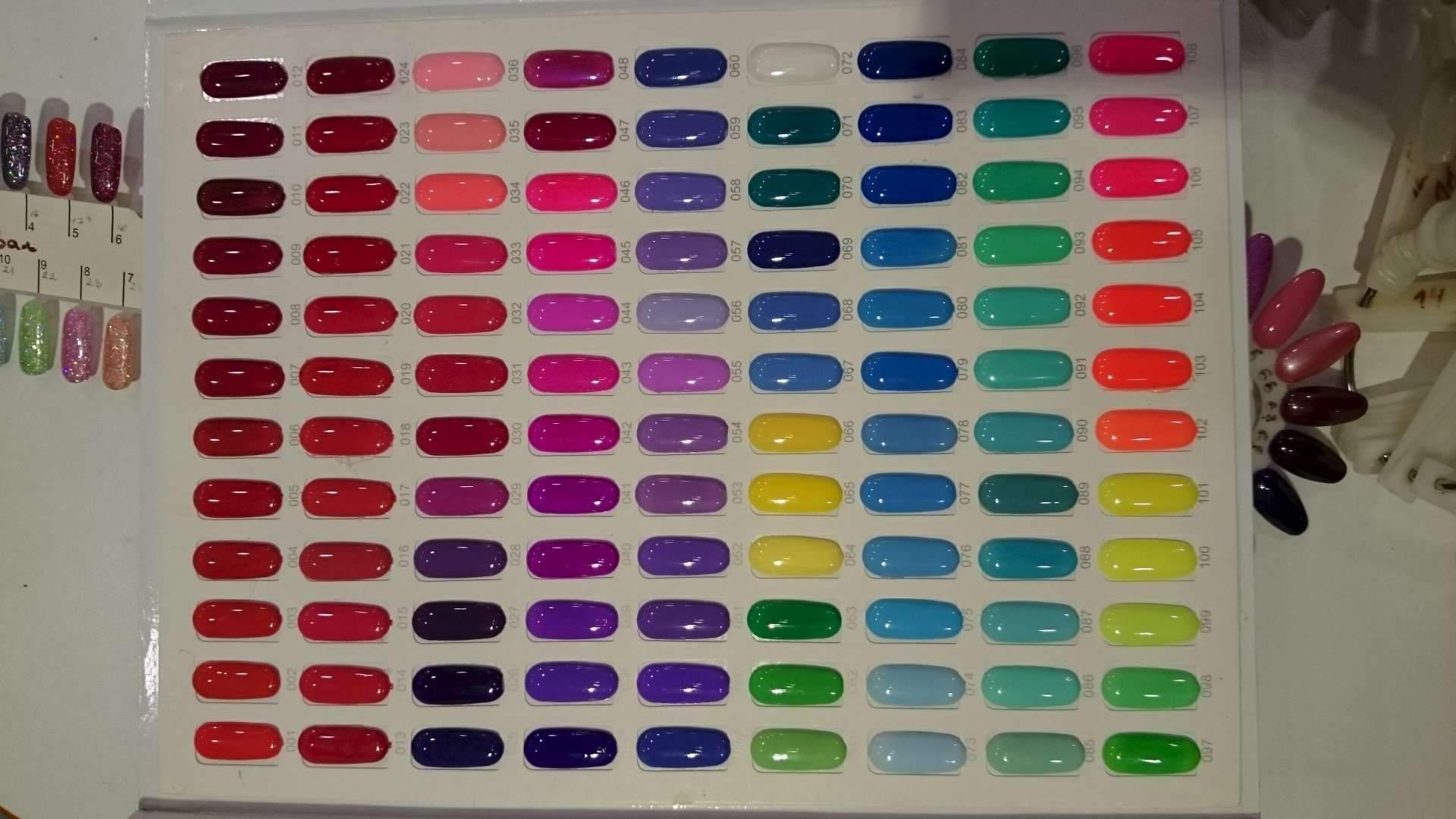 цветовая гамма шеллака фото