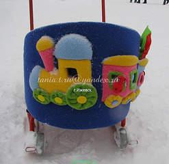 480 X 466  40.7 Kb ТЮНИНГ детских колясок и санок, стульчиков для кормления. НОВИНКА Матрасик-медвежонок