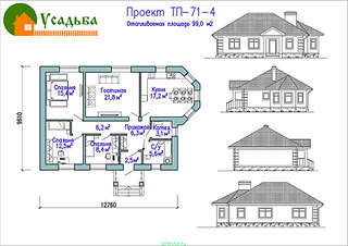990 X 700 270.6 Kb Проекты уютных загородных домов