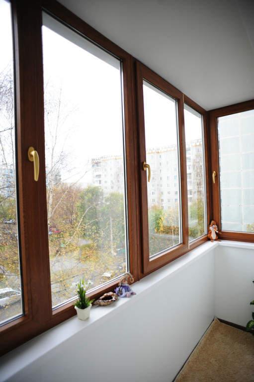 Застекление балконов и лоджий. окна пвх rehau. рулонные штор.
