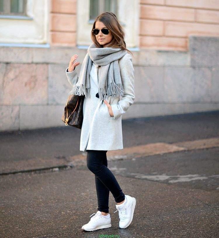 с чем носить зимние кеды фото как правильно