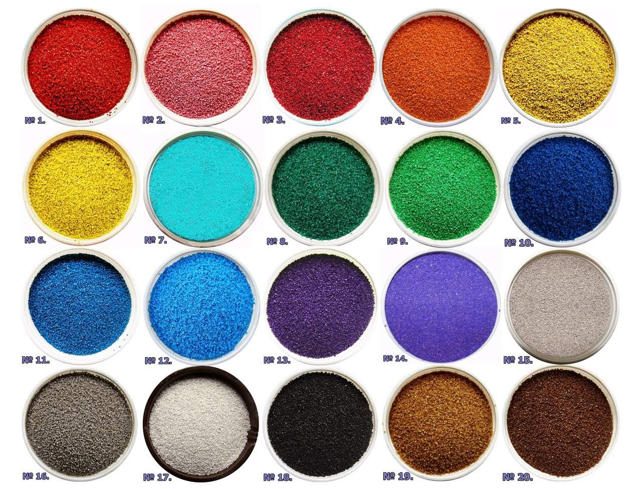 Цветной кварцевый песок купить из Ижевск курган строительная компания